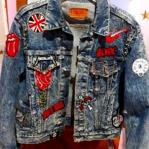 1980s vintage Levis Trucker jacket-punk-customized